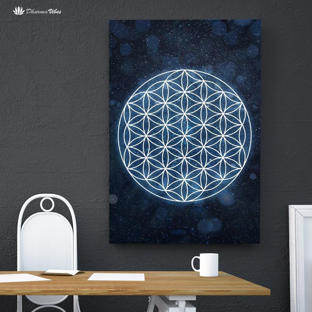 Flower of Life by McAshe Sacred Geometry 1-Piece Canvas