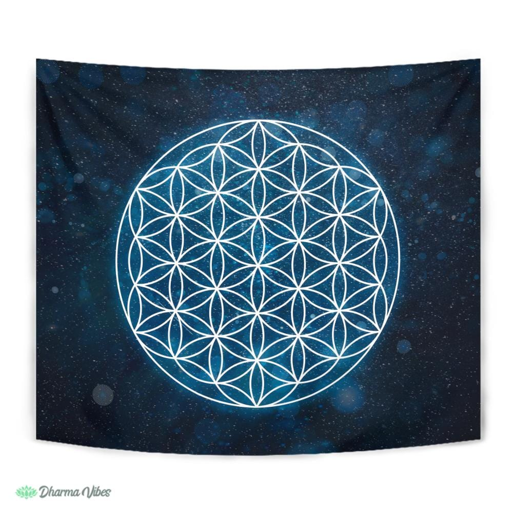 Flower of Life Sacred Geometry by McAshe Tapestry