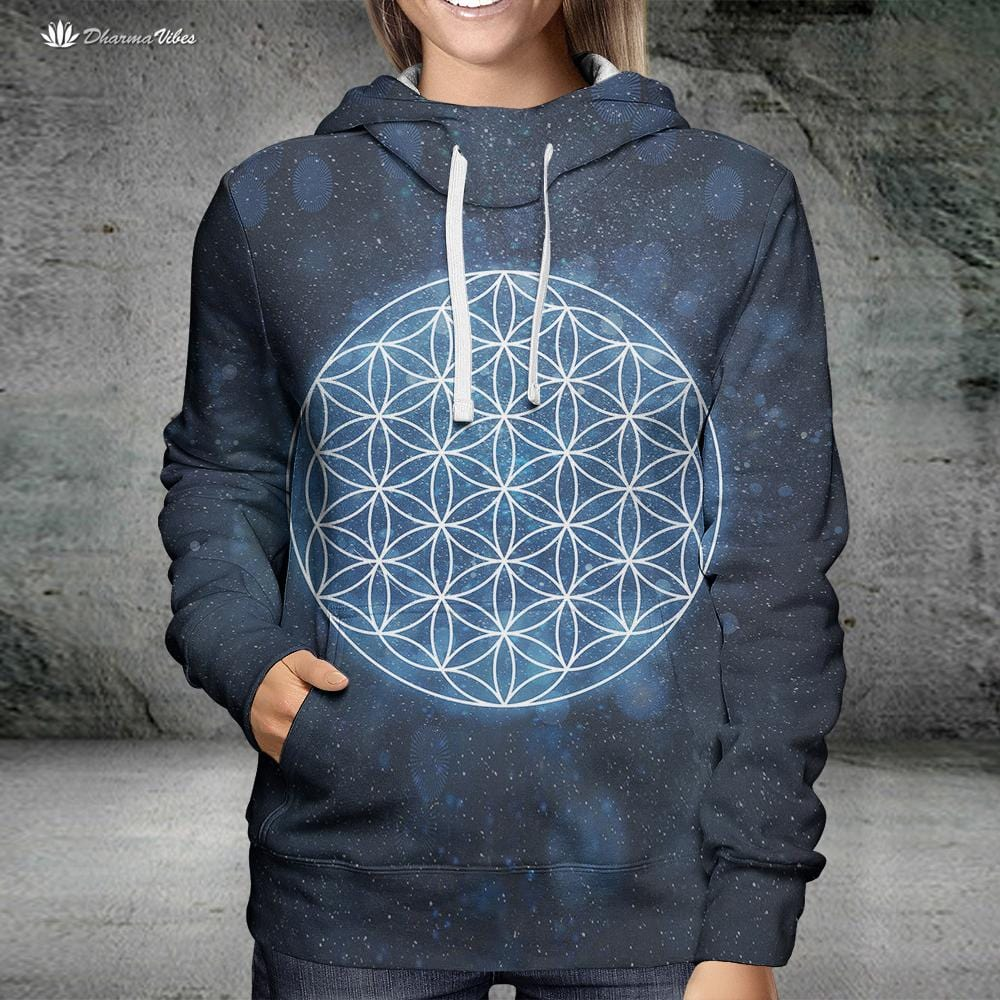Flower of Life by McAshe Sacred Geometry Hoodie