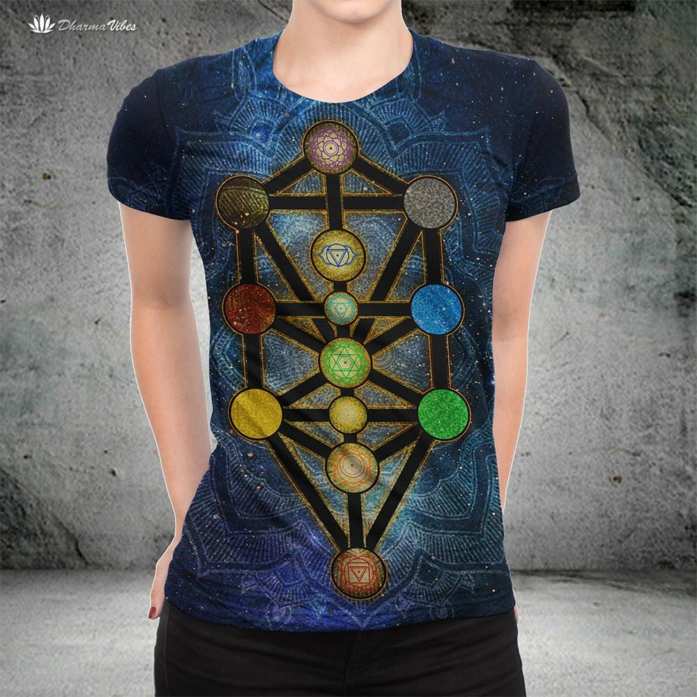 Tree Of Life Kabbalah By Mcashe T Shirt Dharma Vibes According to kabbalah, the spectrum of human experience is divided into seven emotions and qualities. tree of life kabbalah by mcashe t shirt