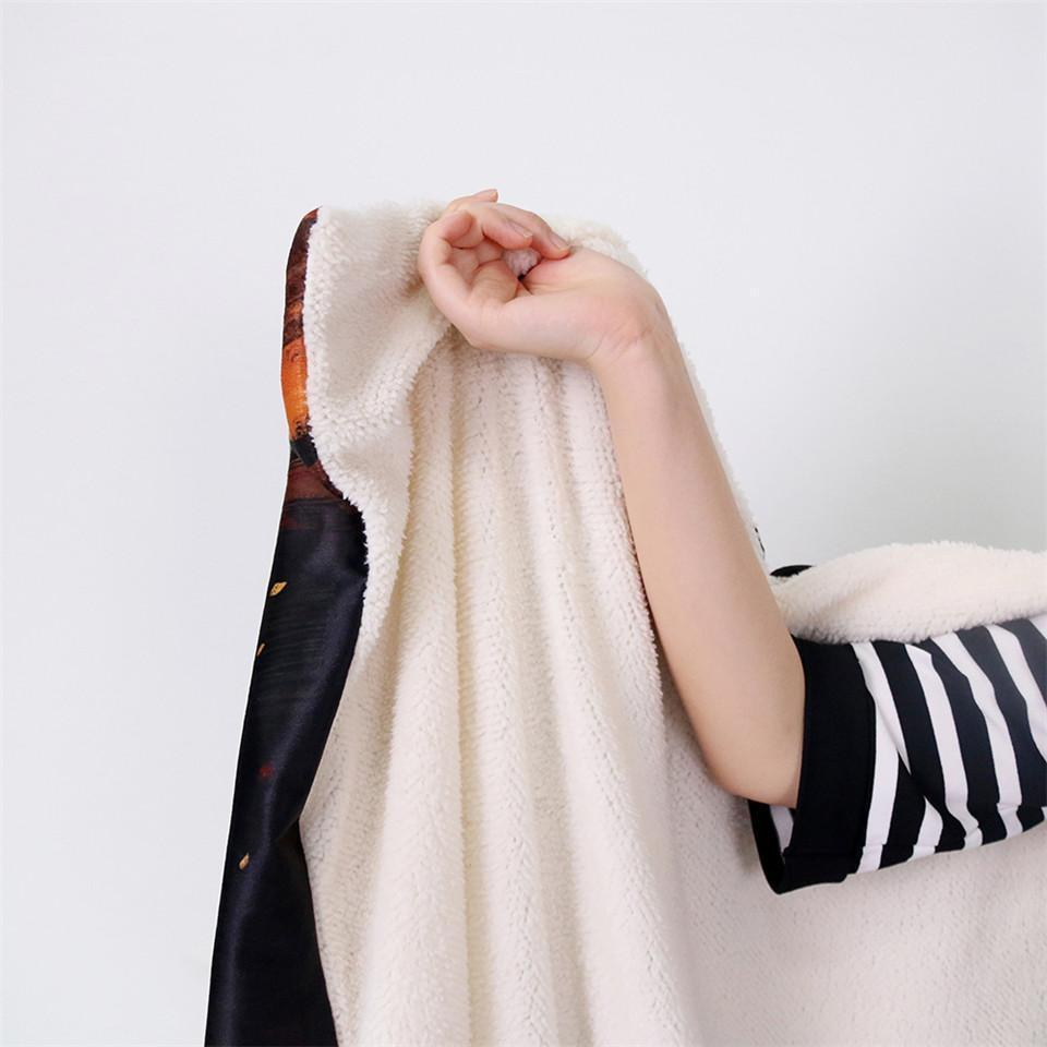 Enlightened by McAshe Hooded Blanket