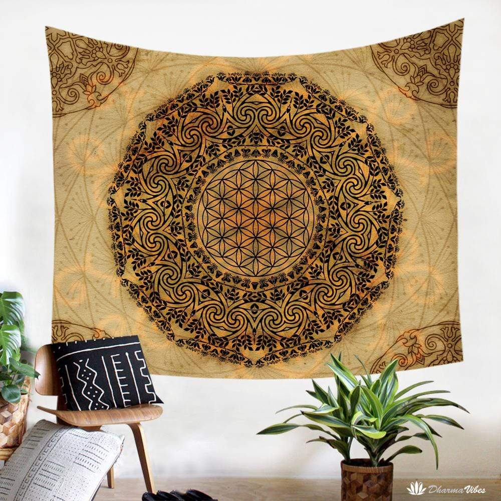 Flower of Life Mandala Tapestry by McAshe