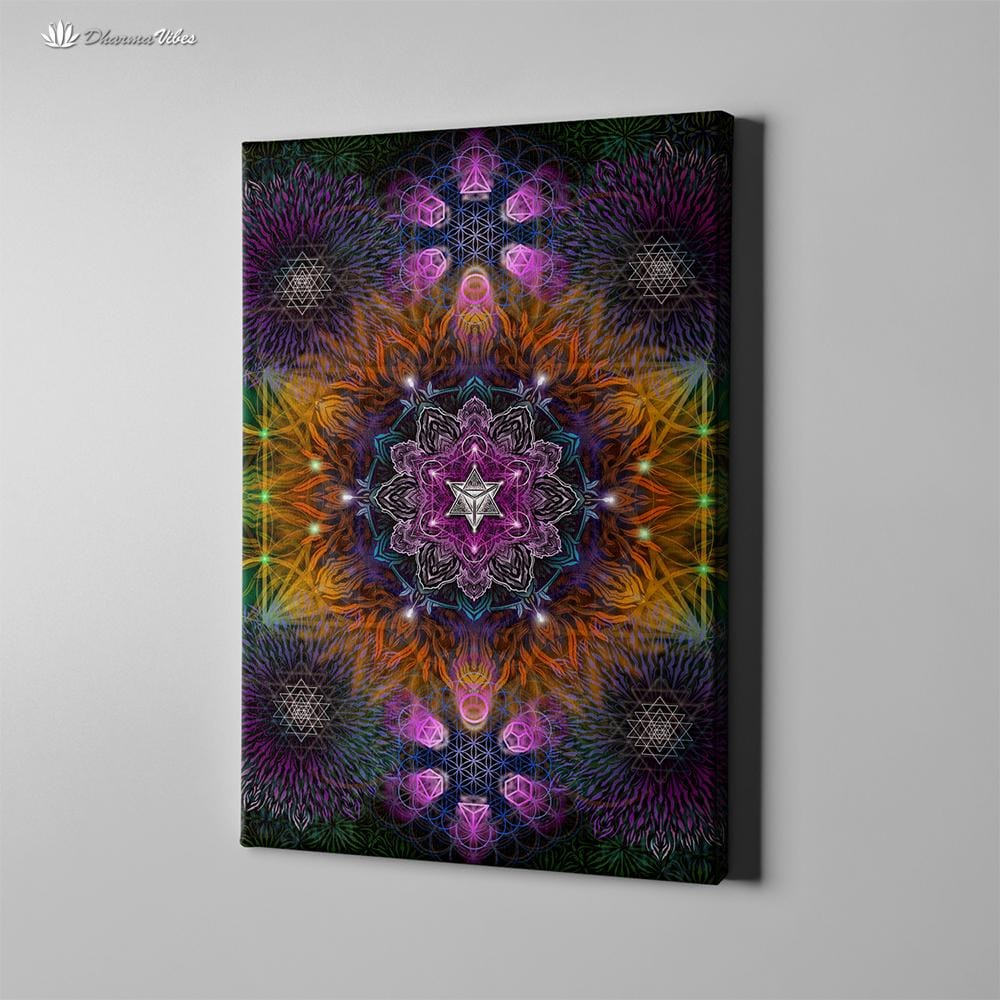 Geometric Color by YantrArt 1-Piece Canvas