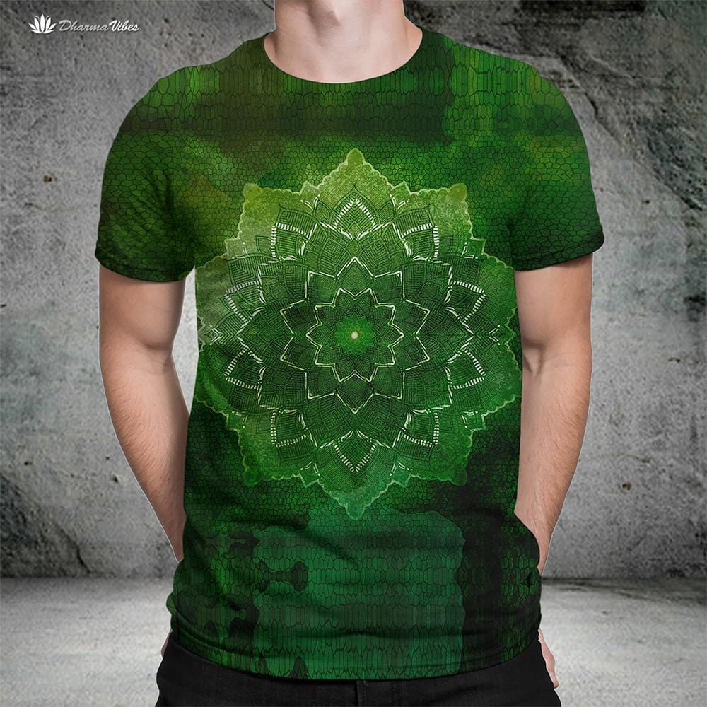 Green Flower by McAshe T-Shirt