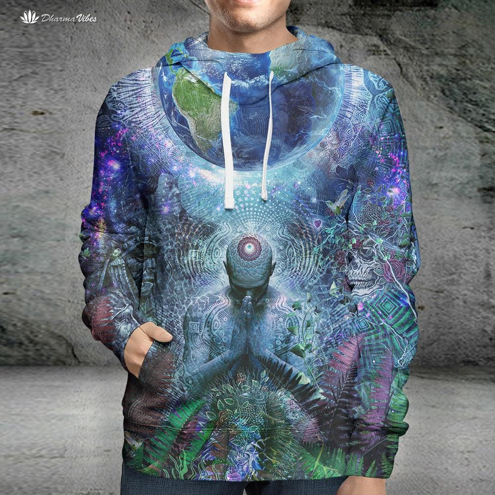 Gratitude for the Earth and Sky by Cameron Gray Visionary Hoodie