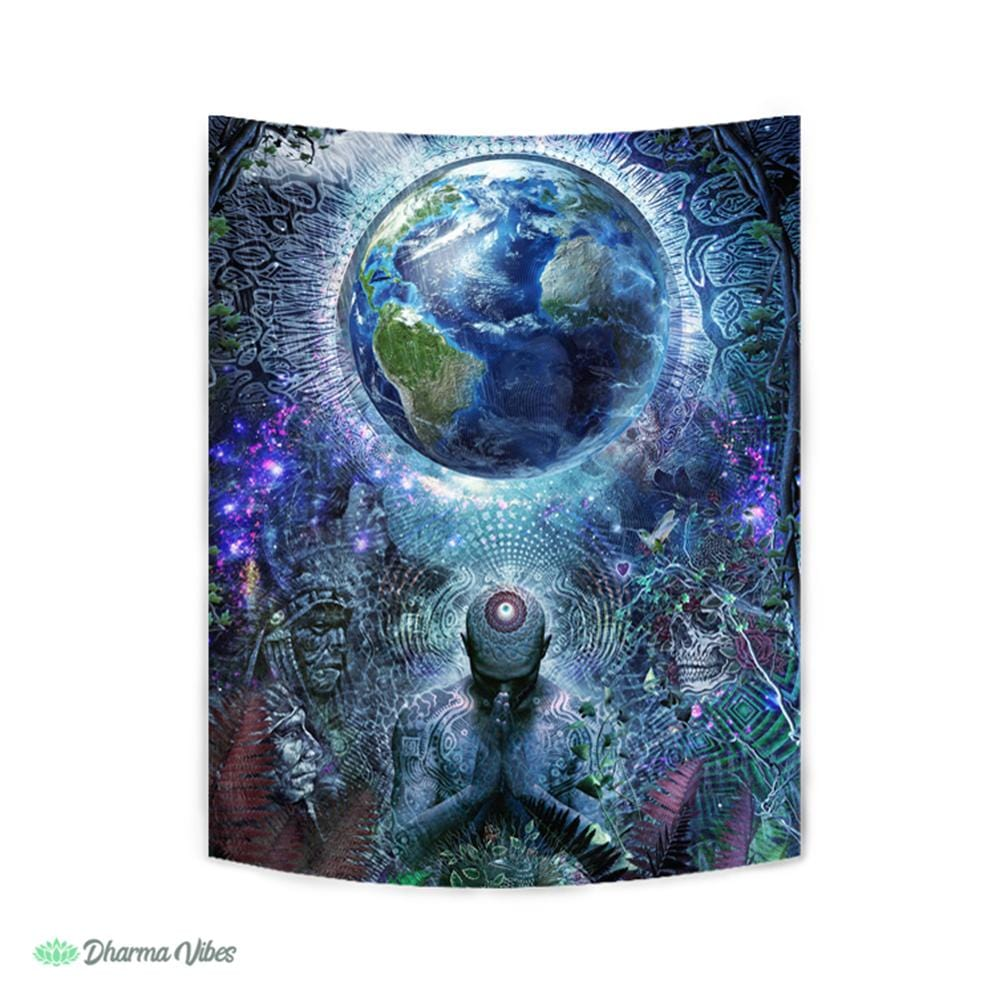 Gratitude for the Earth and Sky by Cameron Gray Tapestry