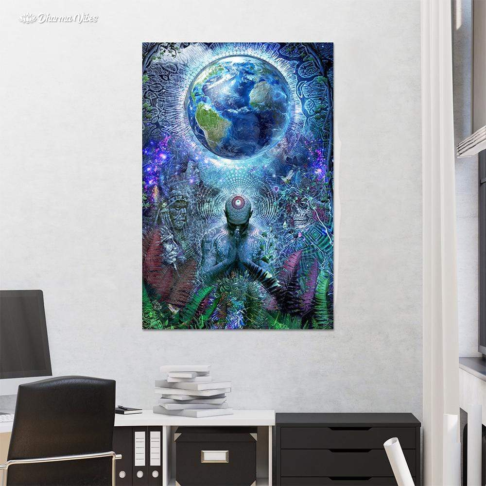 Gratitude for the Earth and Sky by Cameron Gray 1-Piece Canvas