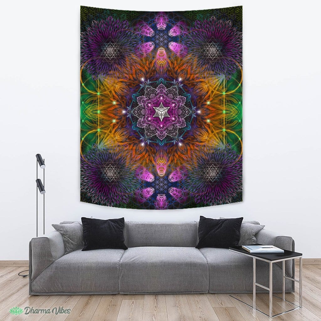 Geometric Color by YantrArt Design Mandala Tapestry