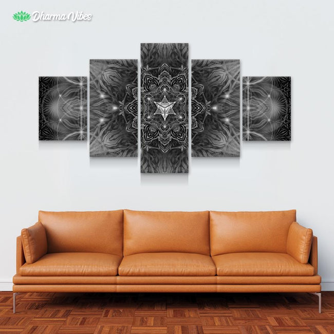 Geometric - Dark by YantrArt 5-Piece Canvas
