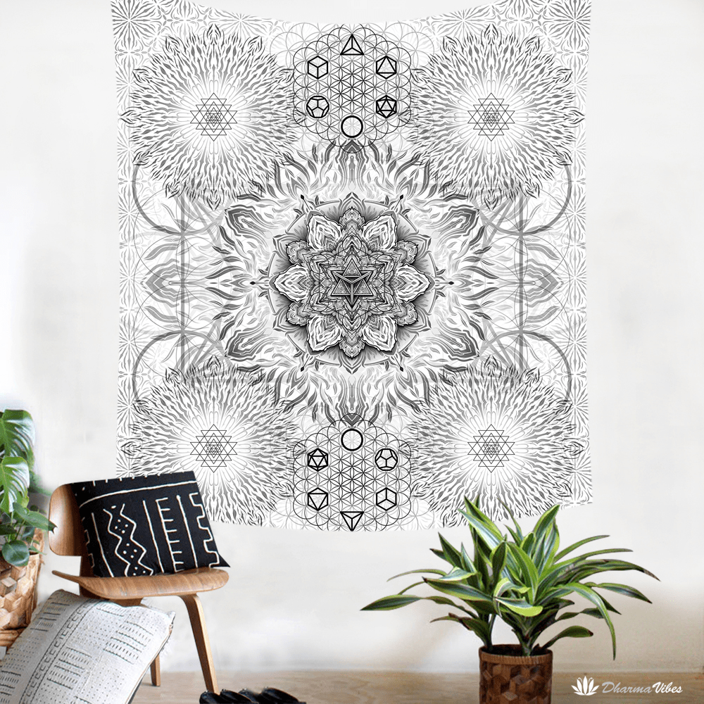 Geometric Bright by YantrArt Design Tapestry