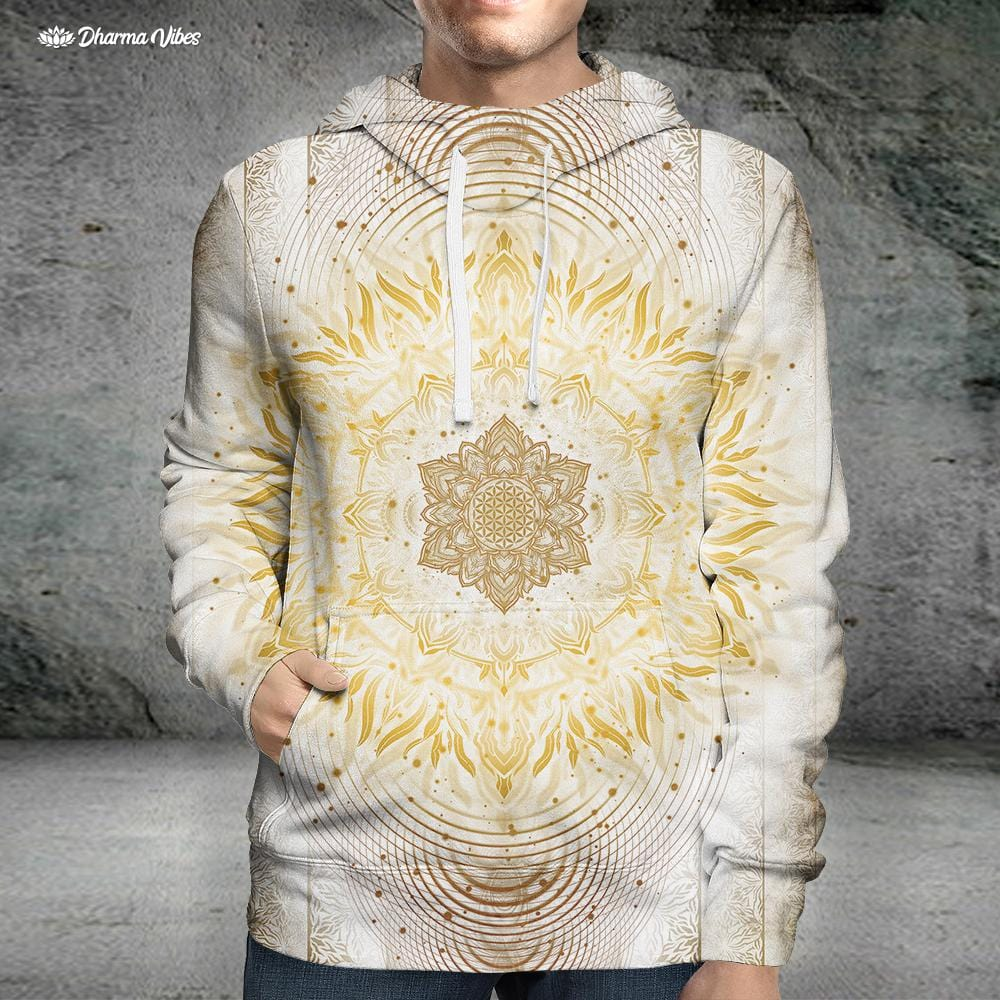 Aligned Flower Clear by YantrArt Hoodie