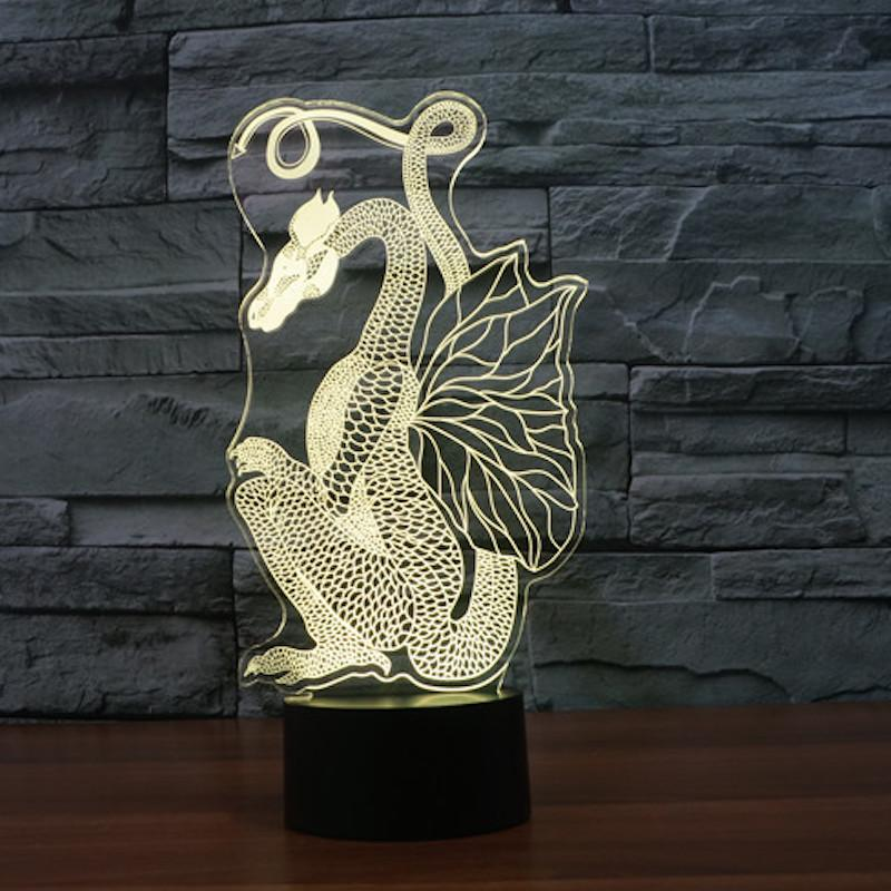 Dragon Majestic Multi-Color 3D Lamp