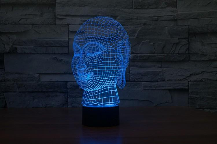 Buddha Harmony Multi-Color 3D Lamp