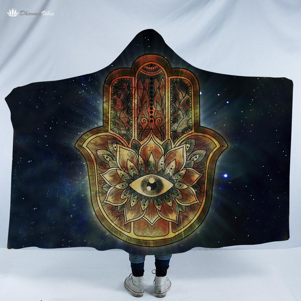 Hamsa by McAshe Hooded Blanket
