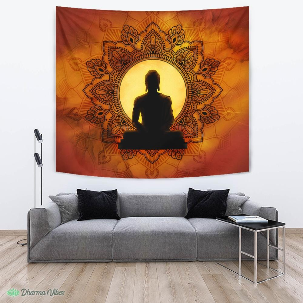 Incandescent Buddha by McAshe Tapestry