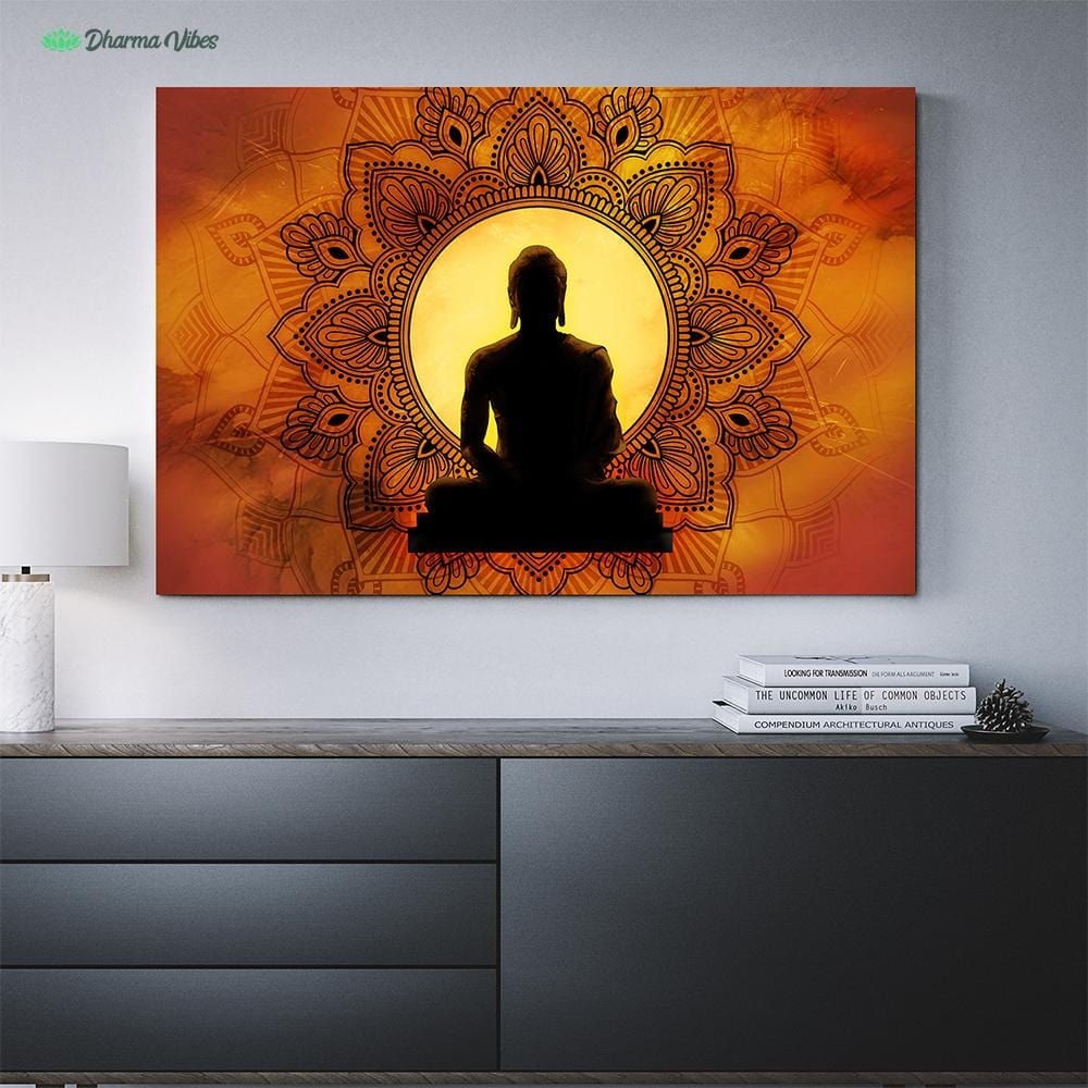 Incandescent Buddha by McAshe 1-Piece Canvas