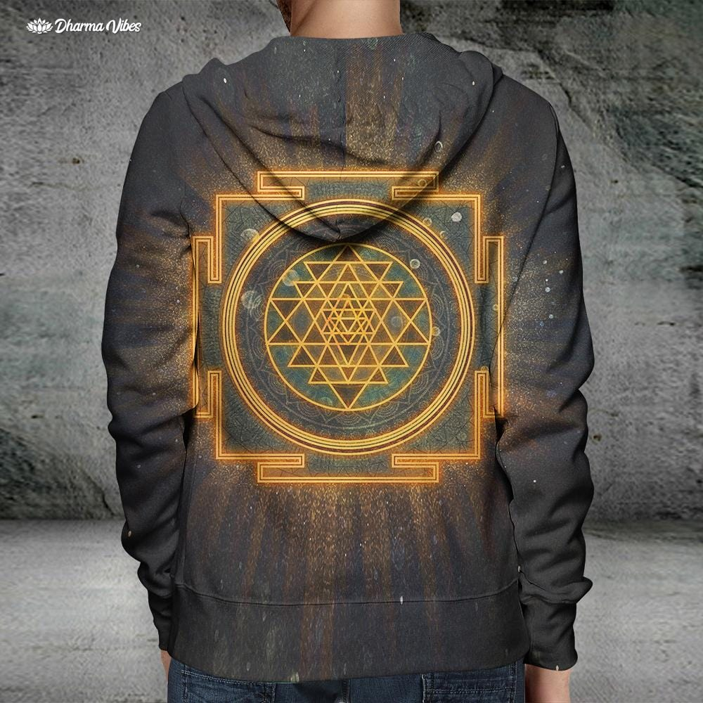 Incandescent Sri Yantra by McAshe Hoodie