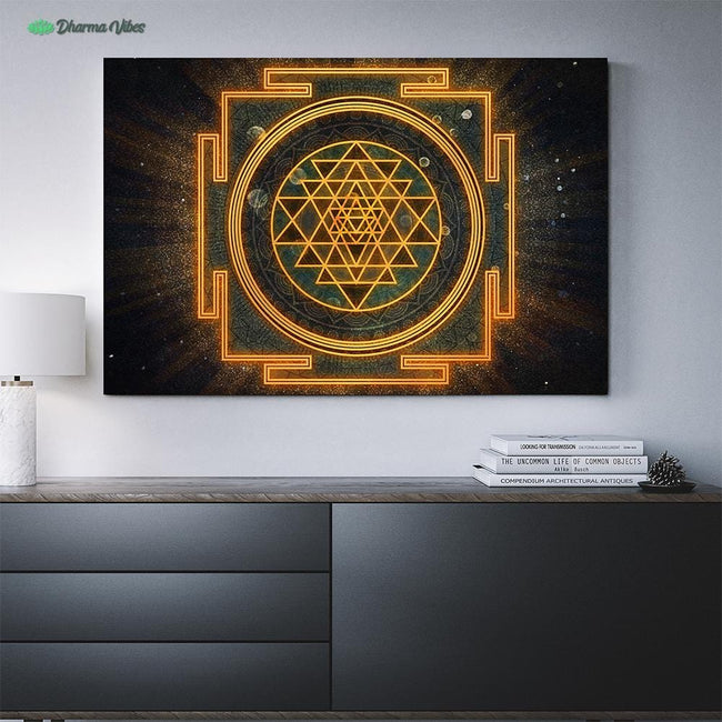 Incandescent Sri Yantra by McAshe 1-Piece Canvas Art