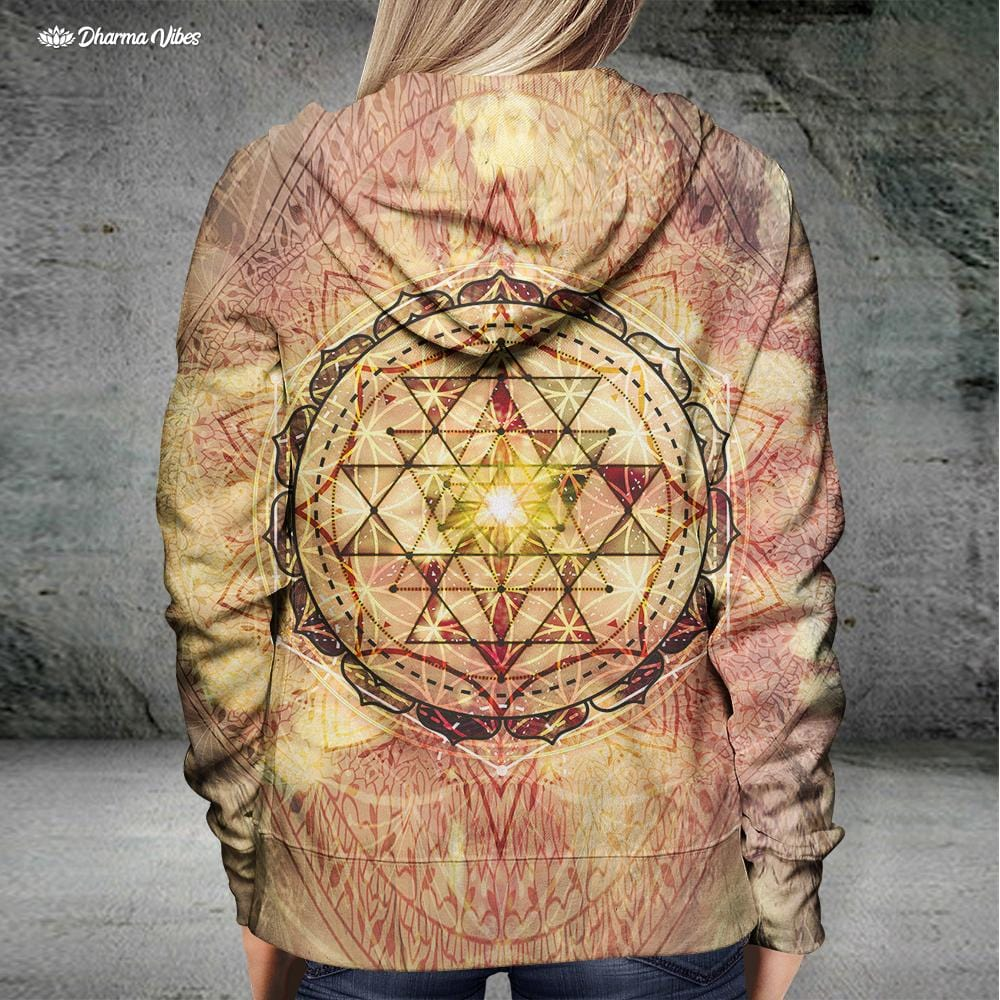 Irradiated Sage Sri Yantra by McAshe Hoodie