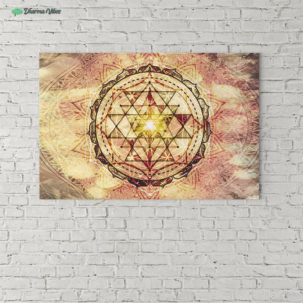 Irradiated Sage Sri Yantra by McAshe 1-Piece Canvas
