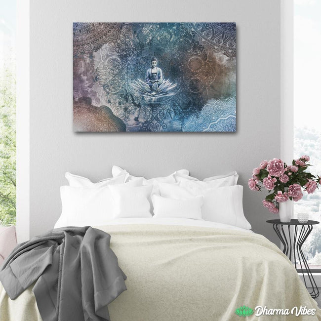Interiorized Buddha meditation by McAshe 1-Piece Canvas