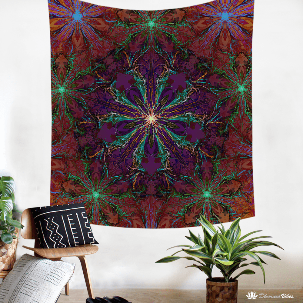 Inverted ManTrip by YantrArt Design Psychedelic Tapestry