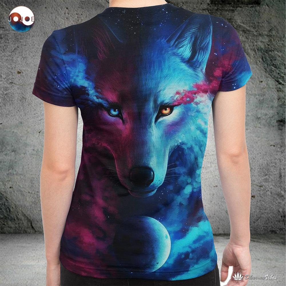 Where Light And Dark Meet by JoJoesart Wolf Shirt