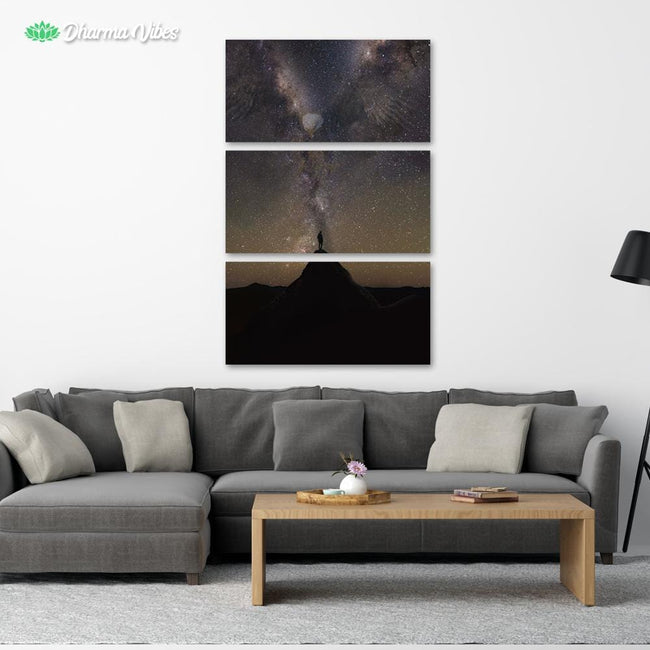 Lone  Eagle Galaxy by KitConcepts 3-Piece Canvas