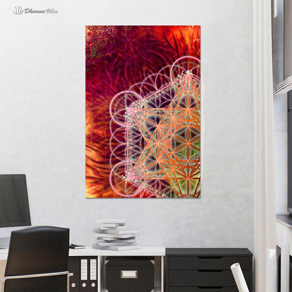 Metatrons Red by YantrArt 1-Piece Canvas