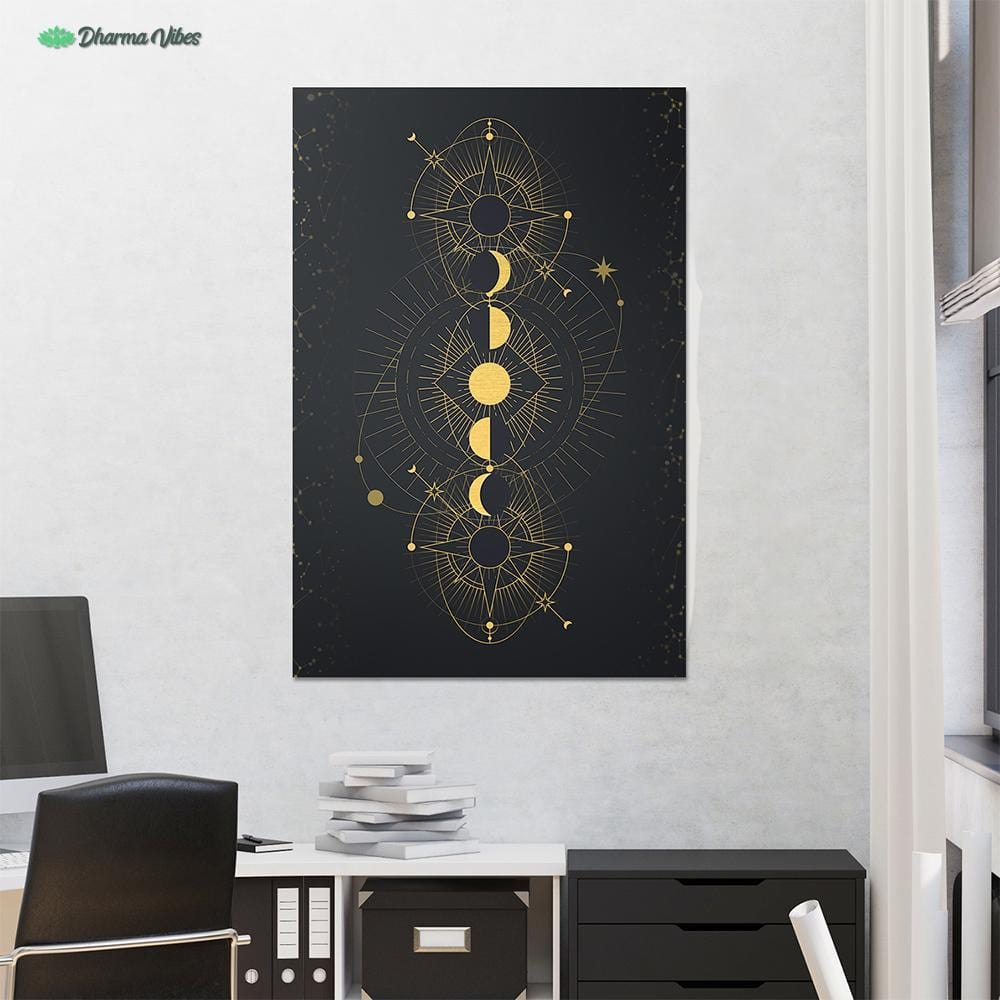 Moon Phases by McAshe 1-Piece Canvas