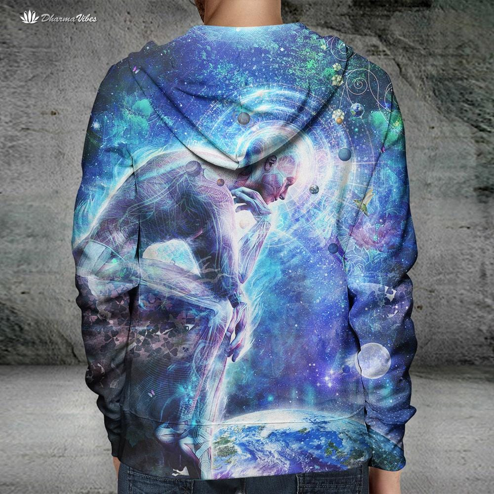 The Mystery of Ourselves by Cameron Gray Visionary Hoodie