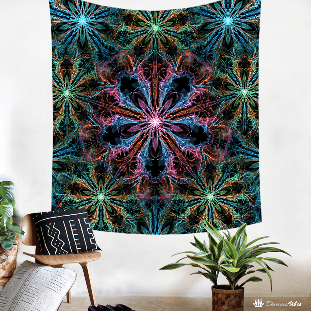 ManTrip by YantrArt Design Psychedelic Tapestry