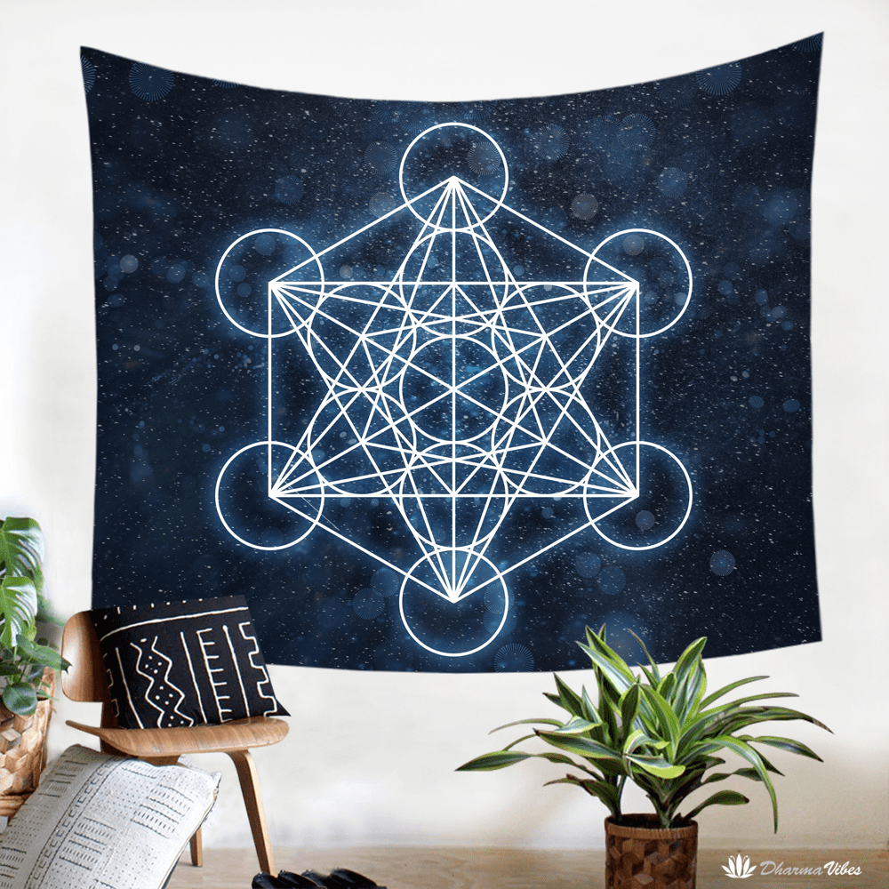 Metatron Sacred Geometry Tapestry by McAshe