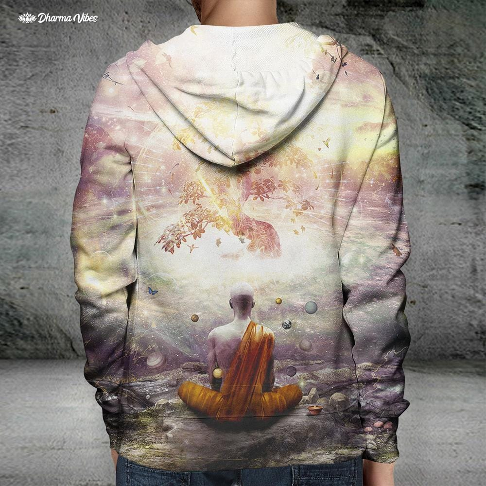 Narture and Time by Cameron Gray Visionary Hoodie