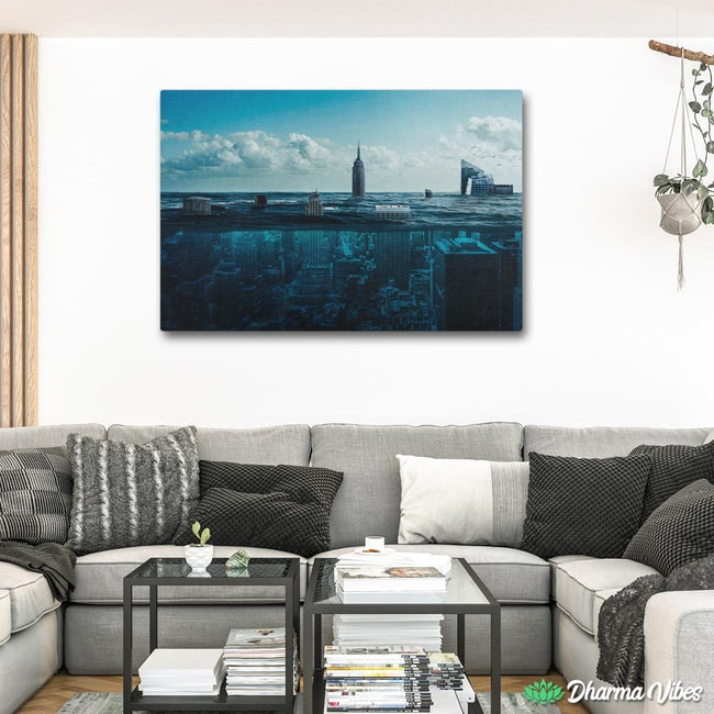 New York Underwater by Milos Karanovic 1-Piece Canvas