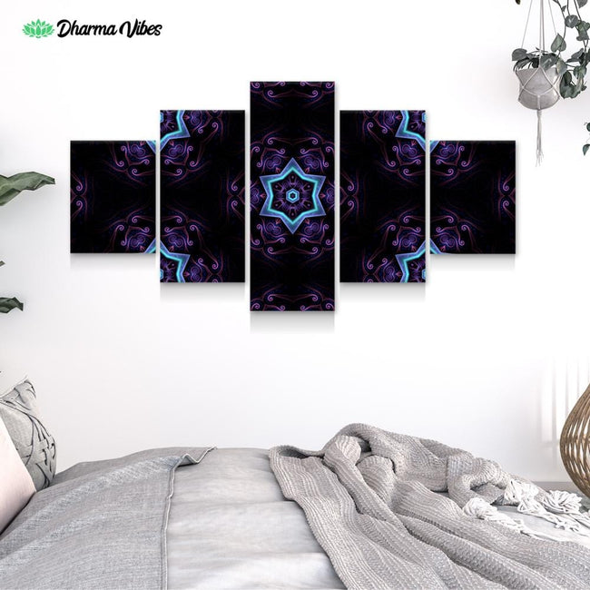 Night Session Visions 2 by Cameron Gray 5-Piece Canvas