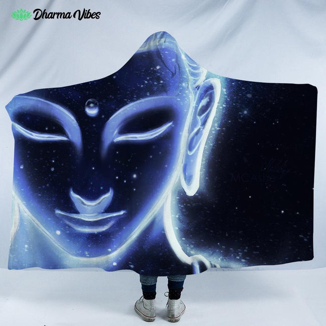 Nocturnal Buddha by Mcashe Hooded Blanket