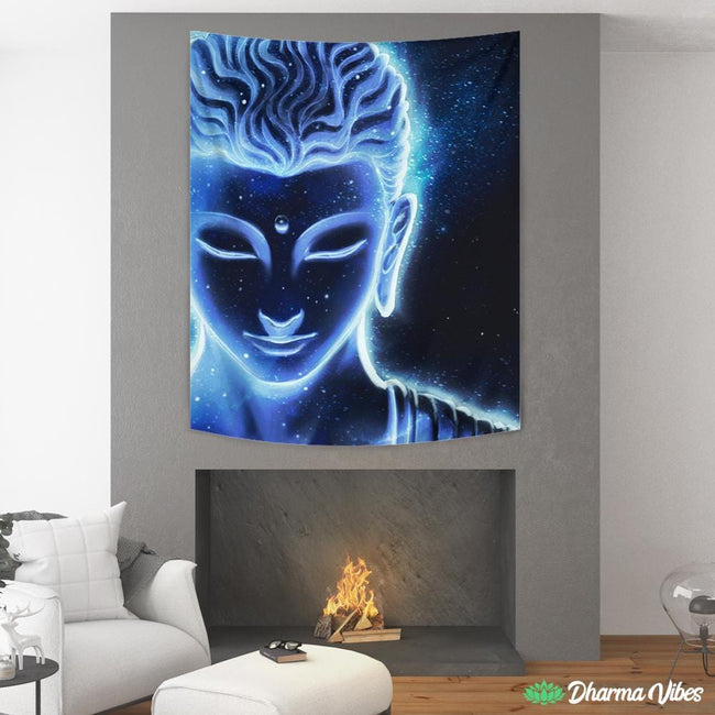 Nocturnal Buddha by McAshe Tapestry