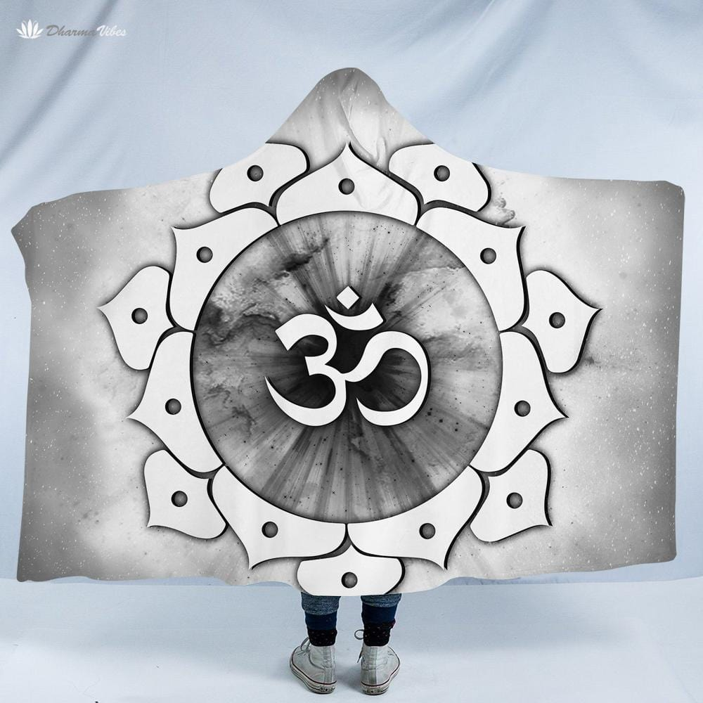 OM Divine by McAshe Hooded Blanket