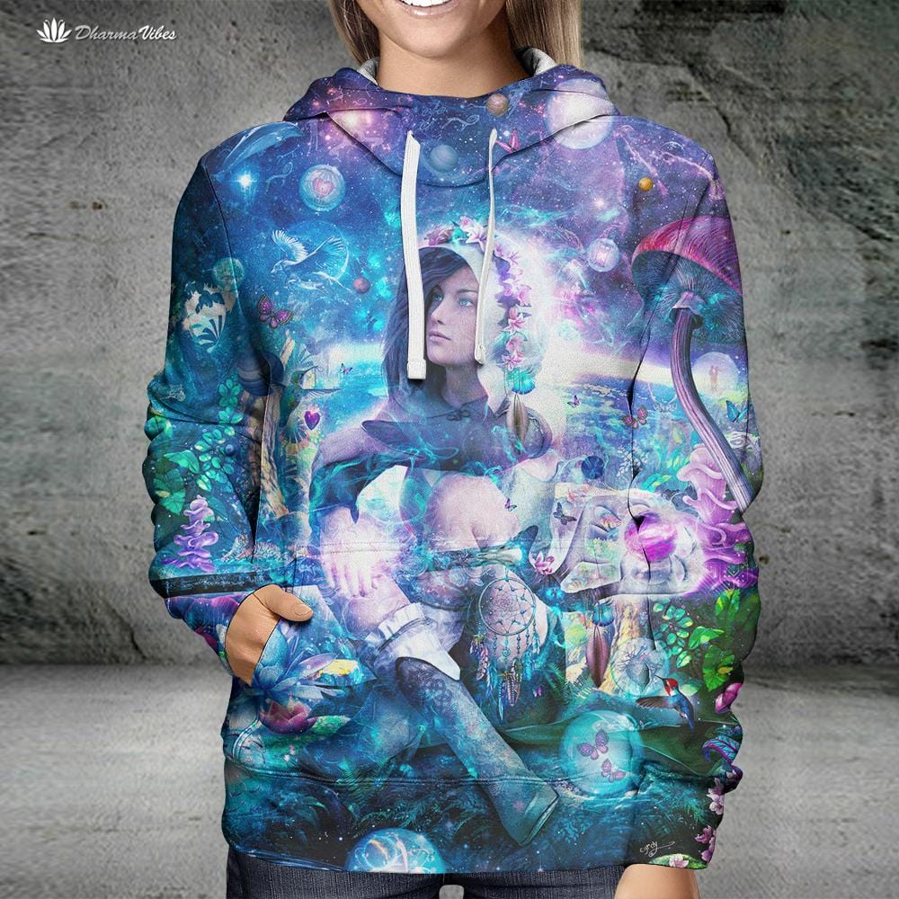 Observing Our Celestial Synergy by Cameron Gray Visionary Hoodie