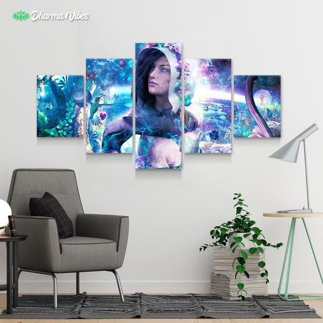 Observing Our Celestial Synergy by Cameron Gray 5-Piece Canvas