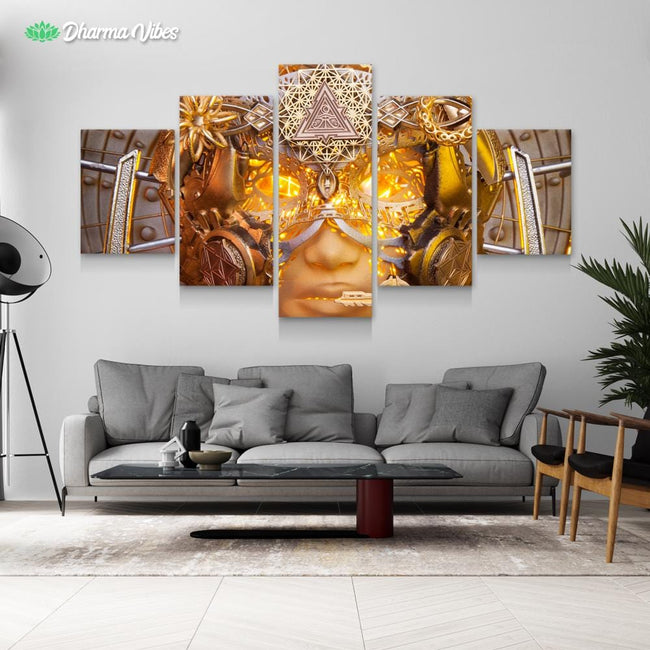 Open Ancient Eyes by LightWizard 5-Piece Canvas