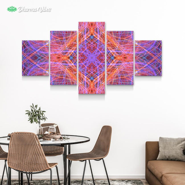 Psychedelic Inner Trip by YantrArt 5-Piece Canvas