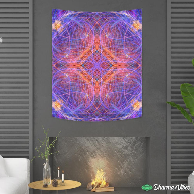 PSYCHEDELIC INNER TRIP by YantrArt Tapestry