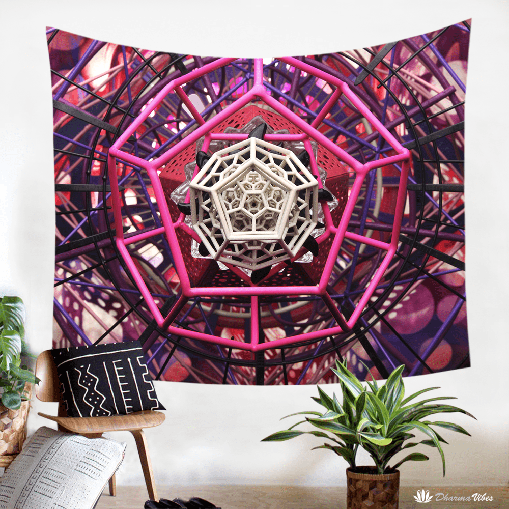 Pinktagon by LightWizard Visionary Tapestry