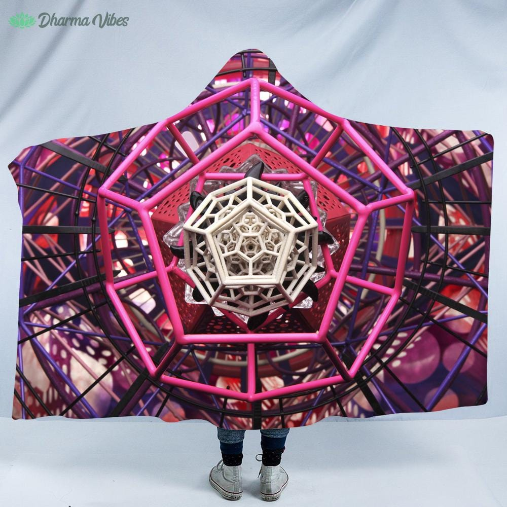 Pinktagon by LightWizard Hooded Blanket