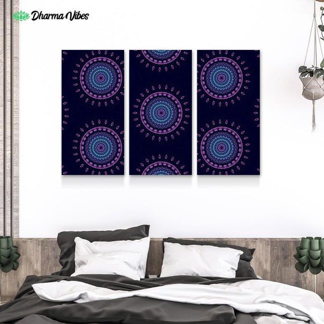 Psy Vibes 3 by Cameron Gray 3-Piece Canvas