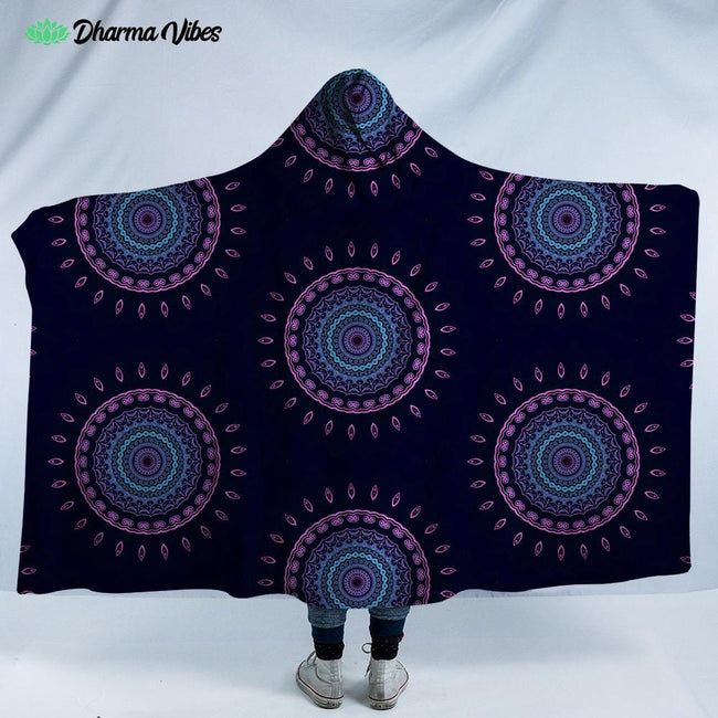 Psy Vibes 3 by Cameron Gray Hooded Blanket