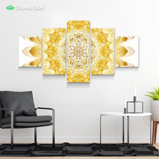 Raising - Clear Gold by YantrArt 5-Piece Canvas