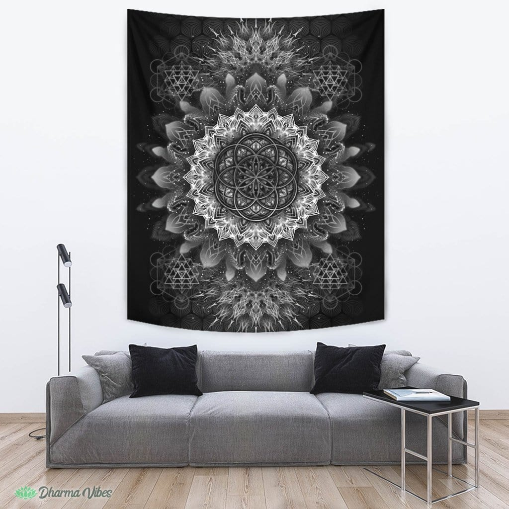 Raising Black by YantrArt Design Tapestry
